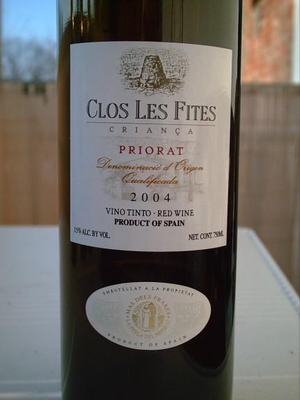 La Perla del Priorat, Clos Les Fites; 2004