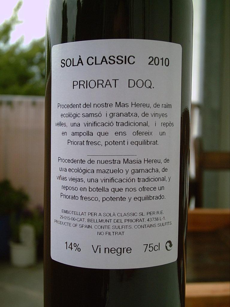 Sola Claasic 2010 R