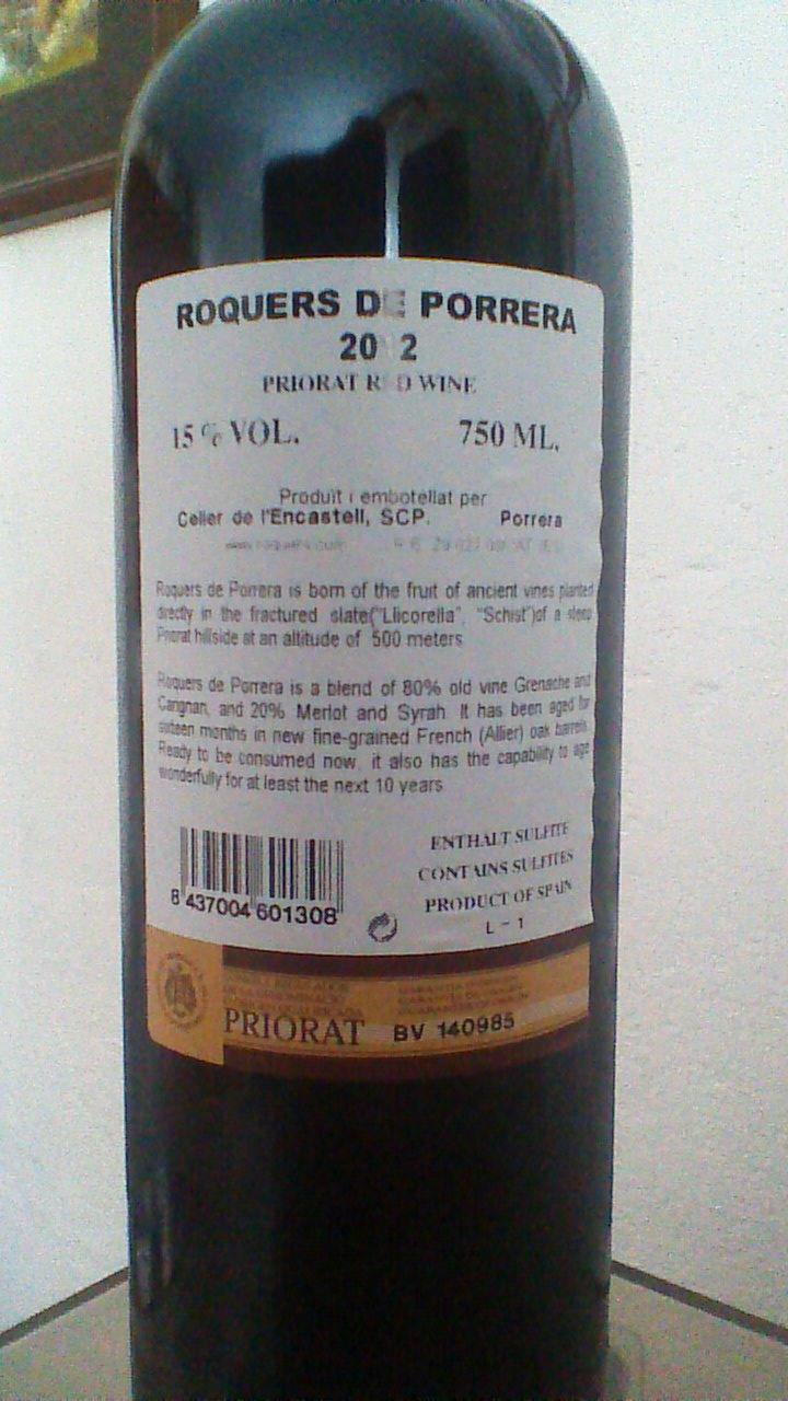 Roquers de Porrera 2012 R